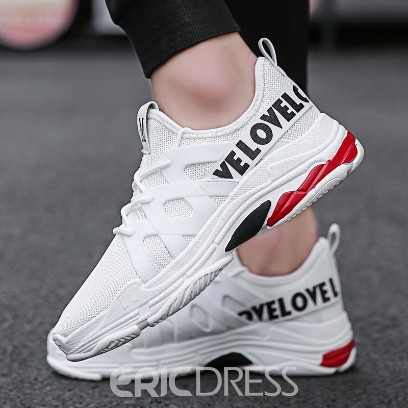 Ericdress Lace-Up Round Toe Low-Cut Upper Men's Sneakers