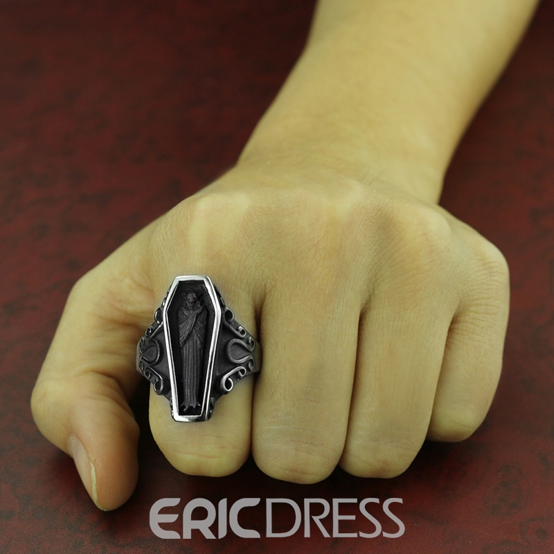 Ericdress Coffin Men's Ring