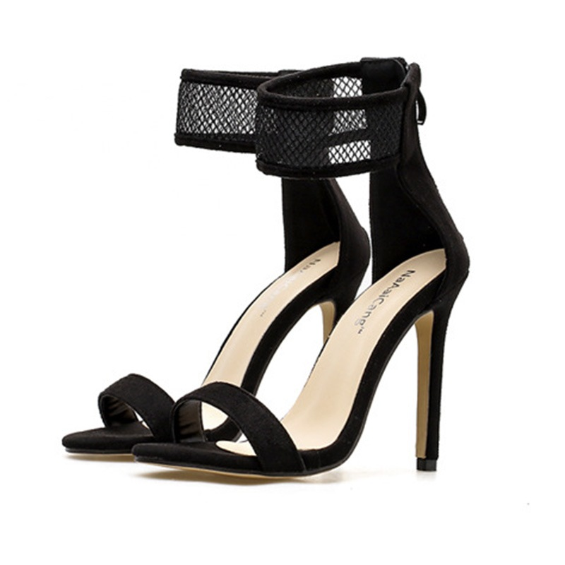 Ericdress Sexy Hollow Plain High-Cut Stiletto Sandals