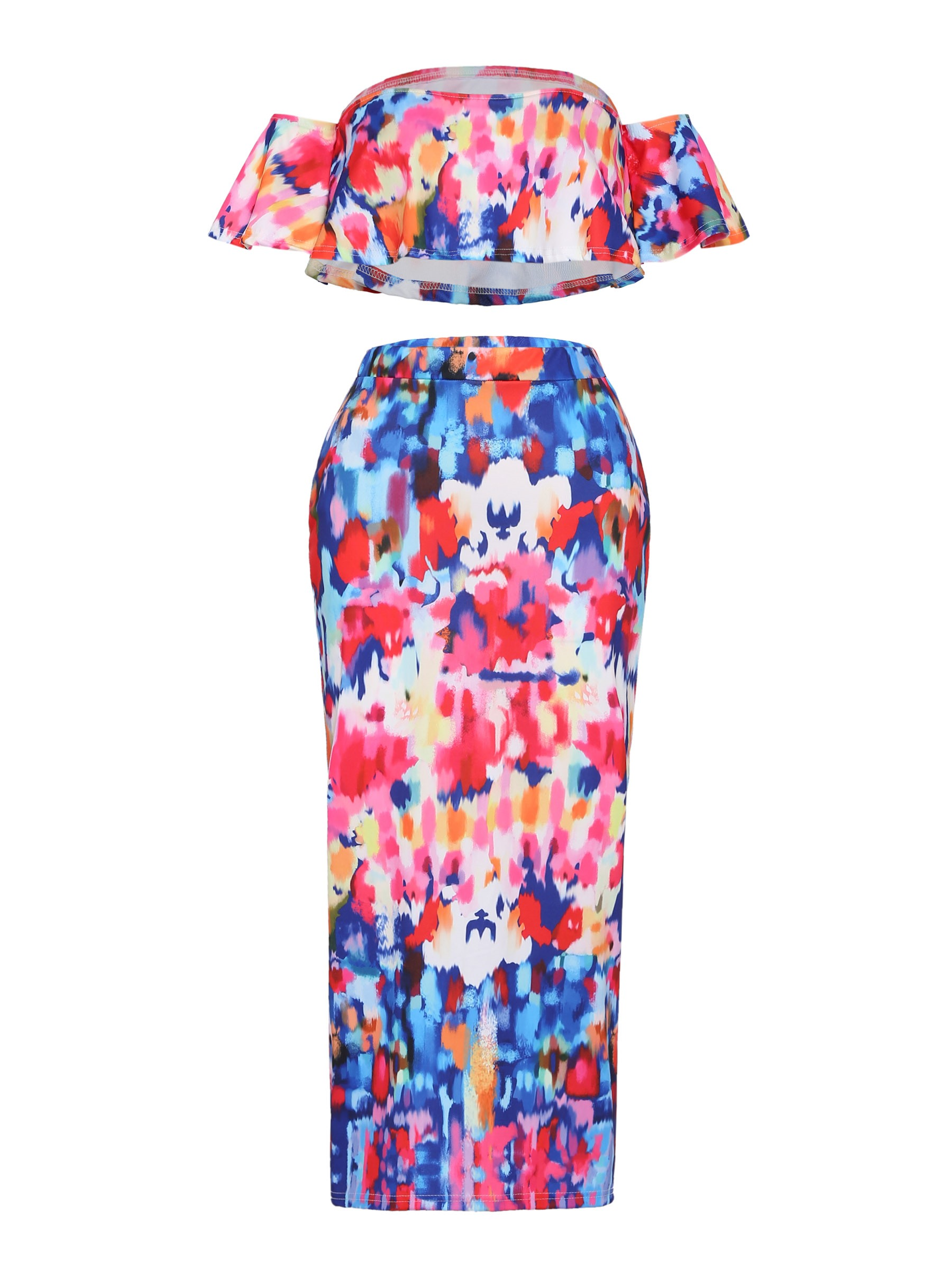 Ericdress Off the Shoulder Tops and Skirt Women's Two Piece Set