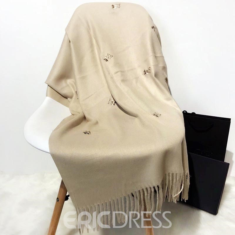 Ericdress Embroidery Warm Cotton Scarf