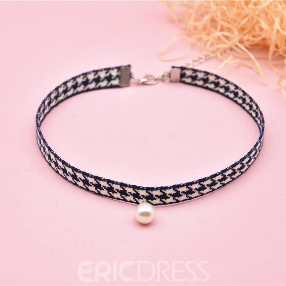 Eridress Houndtooth Choker Necklace