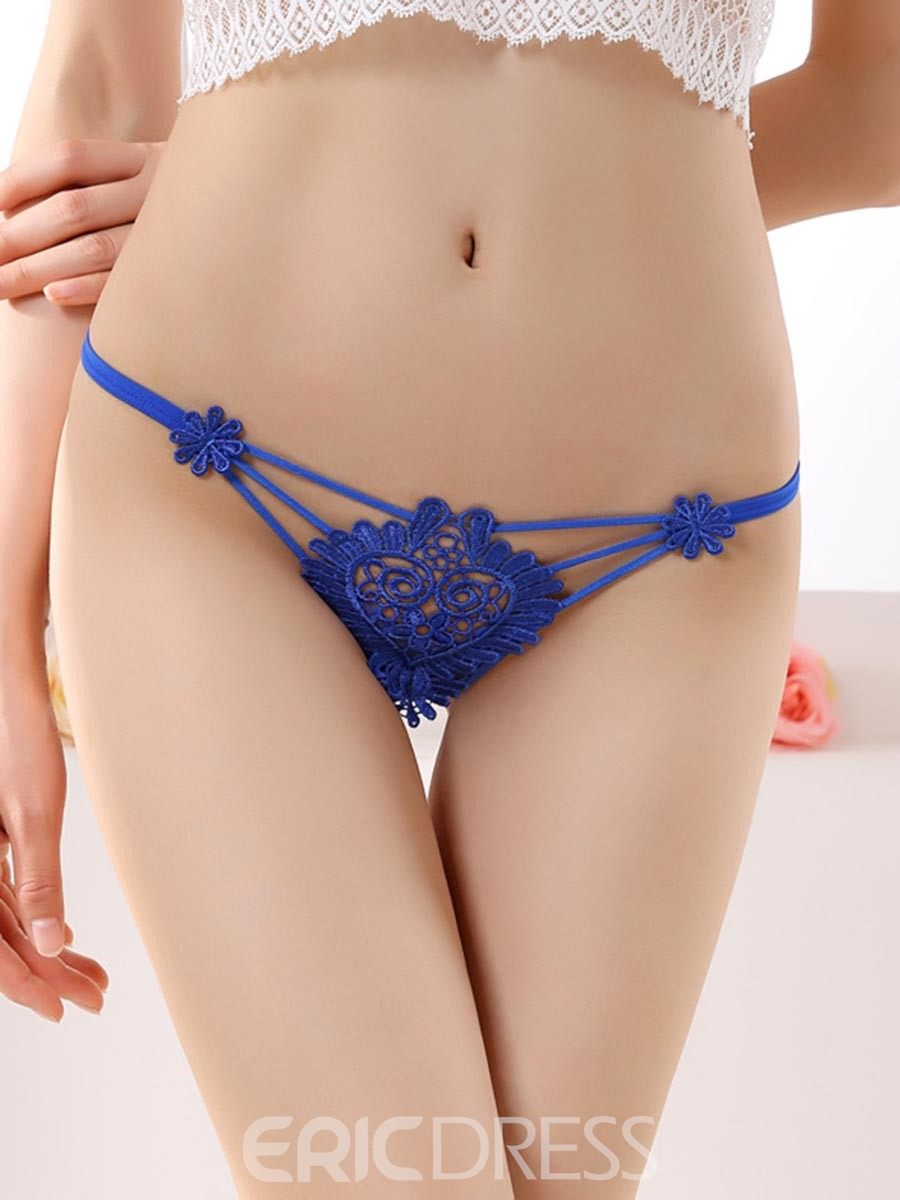Ericdress Hollow Embroidery Sexy G-String