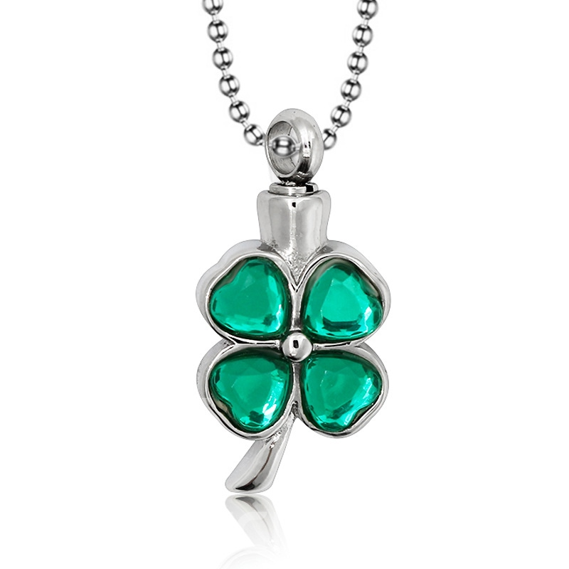 Ericdress Lucky Leaf Gems Necklace