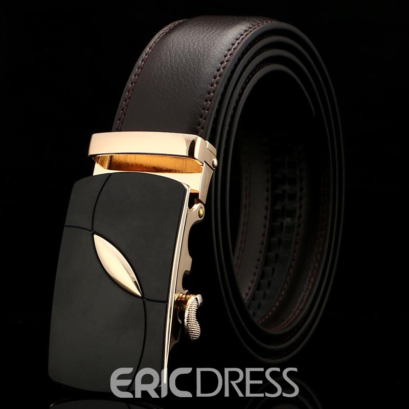 Ericdress Alloy Business Leather Belt