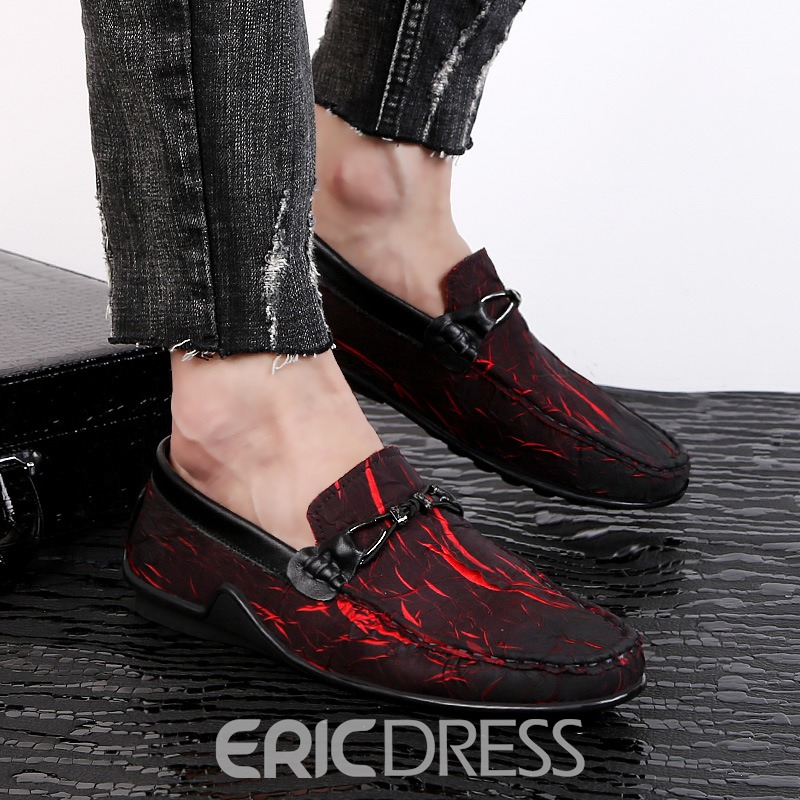 Ericdress Print Stripe Slip-On Men's Casual Shoes