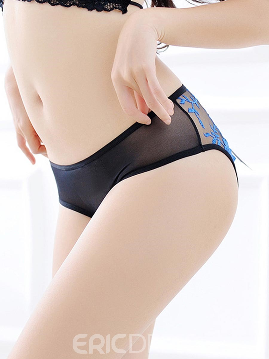 Ericdress Bowknot See-Through Crotchless Panty
