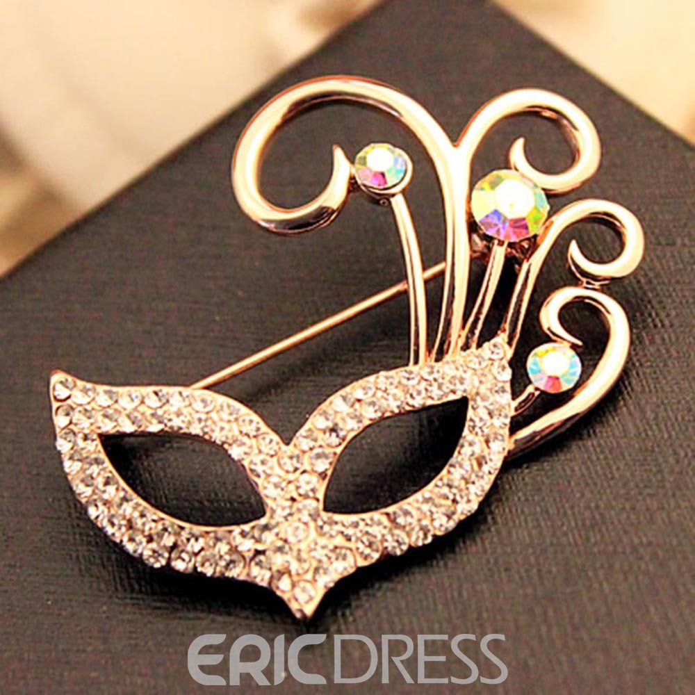 Ericdress Diamanted Mask Brooches