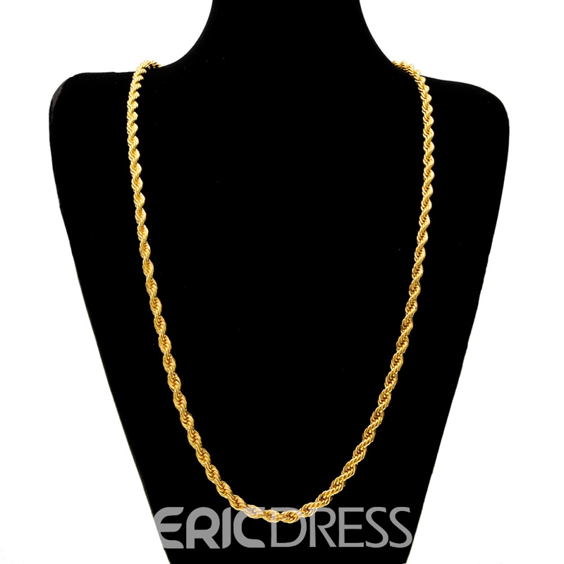 Ericdress Overgild Twisted Necklace