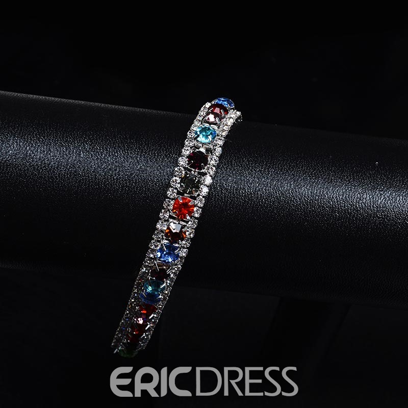Ericdress Colorful Crystal Bracelet
