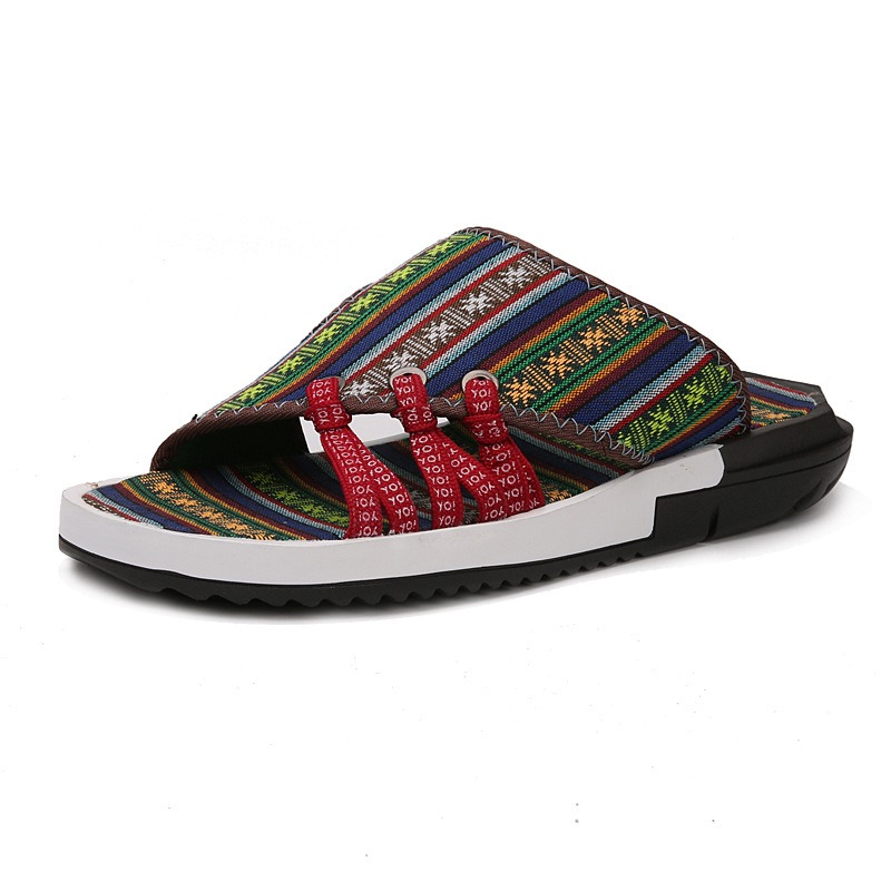 Cloth Print Slip-On Flip Flop Men's Sandals buy cheap new arrival cheap sale footaction buy cheap outlet store zVq7ECxLU