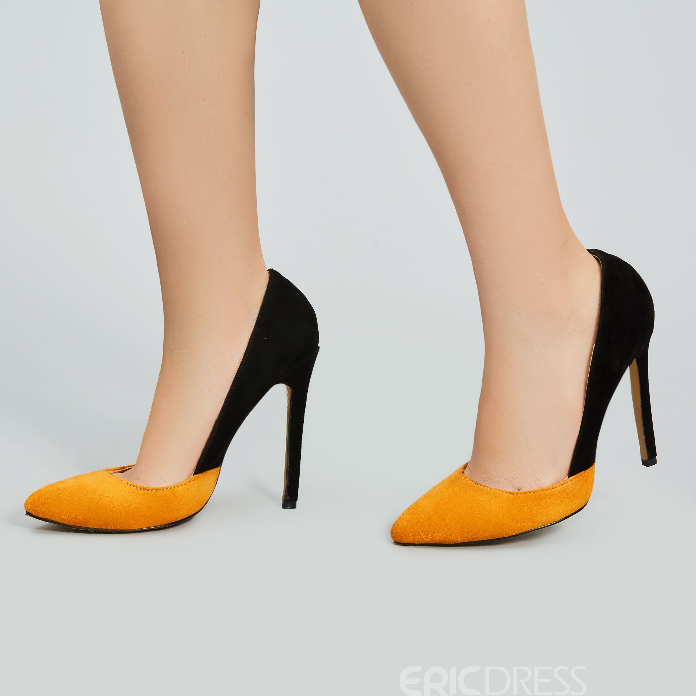 Ericdress New Chic Patchwork Pointed-toe Pumps