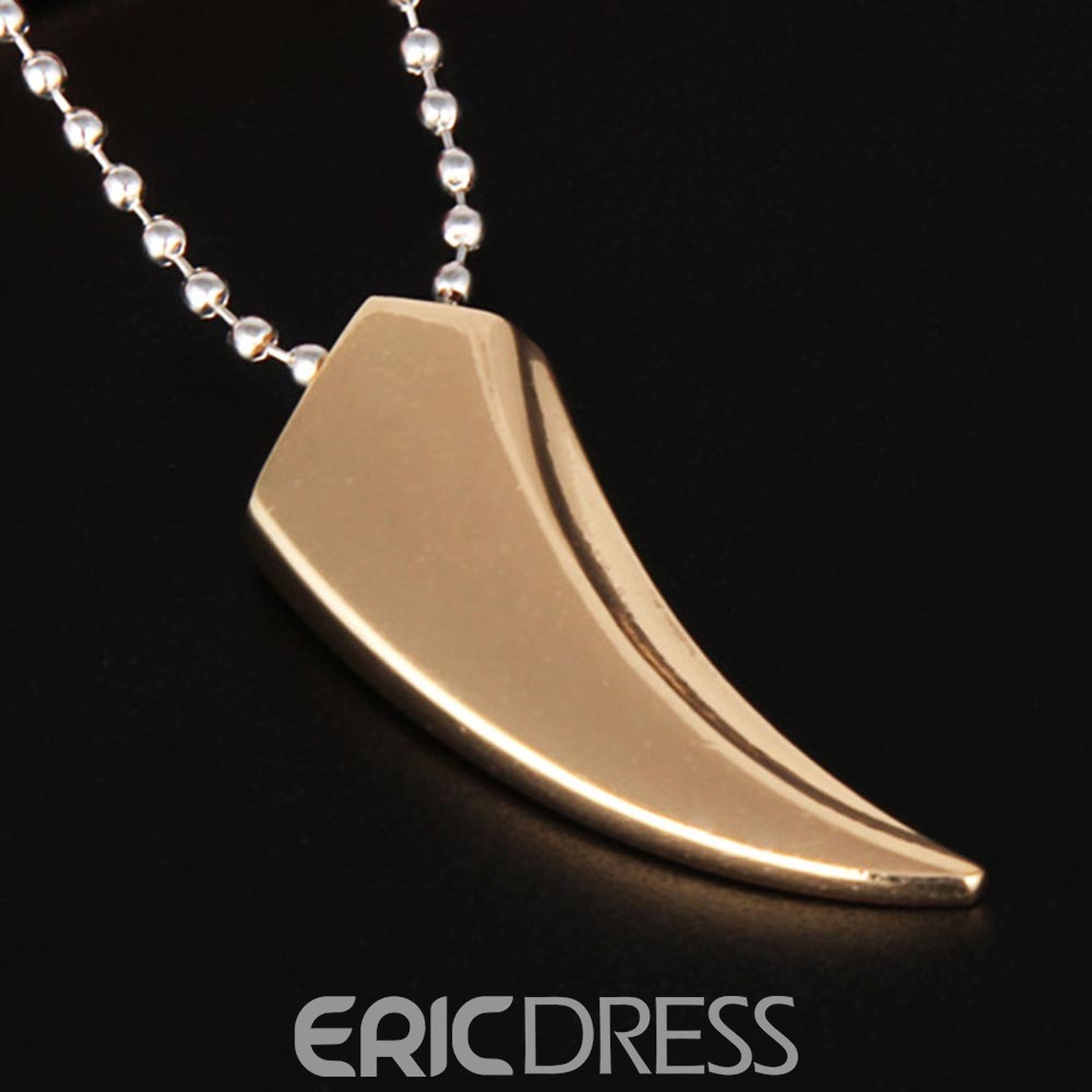 Ericdress Crescent Moon carving Men's Necklace