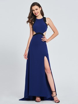 Ericdress A Line Scoop Neck Split Side Backless Prom Dress