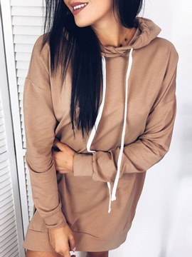 Ericdress Loose Hooded Casual Mid-Length Cool Hoodies