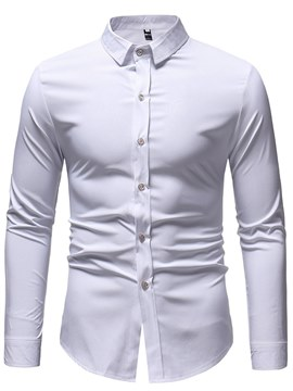 ericdress druckte Plain Slim Button bis Mens Casual Dress Shirts
