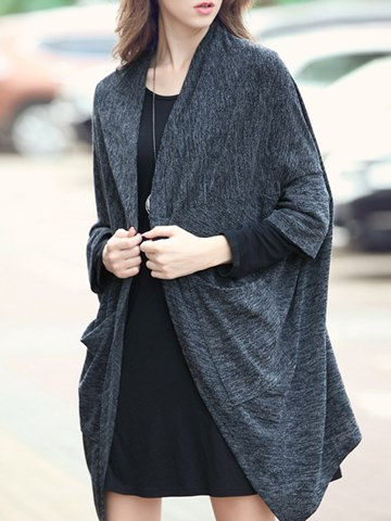 Ericdress Casual Loose Mid-Length Long Sleeves Cape