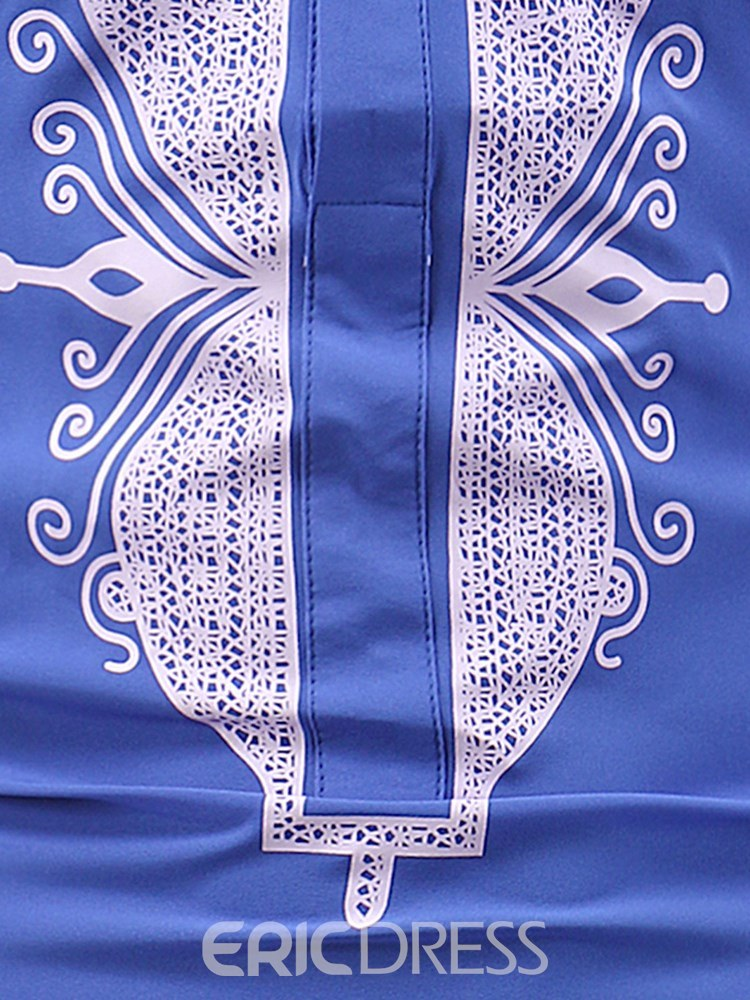 ericdress dashiki africain stand col de longueur hommes occasionnels t-shirts