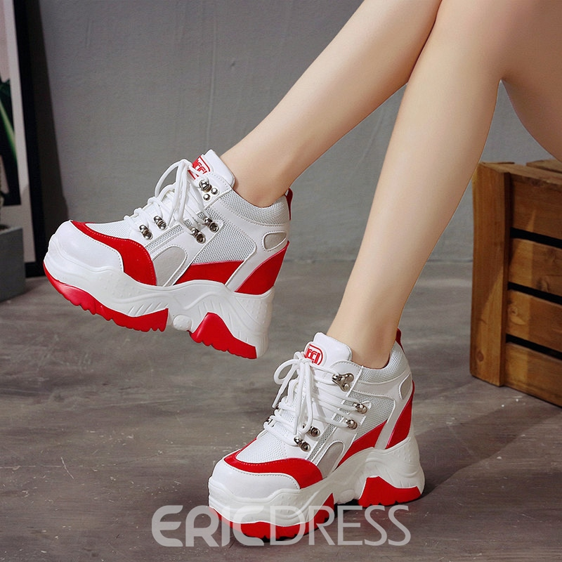 Ericdress Hidden Elevator Heel Women's Sneakers