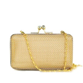 Ericdress Plain Golden Chain Women Clutch