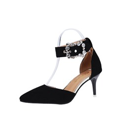 Ericdress Rhinestone Line-Style Buckle Women's Pumps
