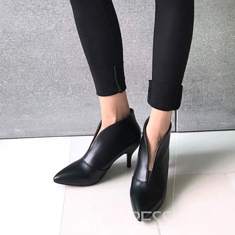 Ericdress Pointed Toe Kitten Heel Women's Boots