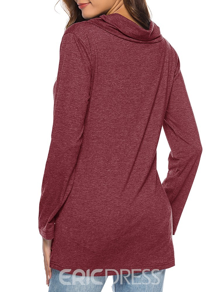 Ericdress Mid-Length Casual Long Sleeves T-shirts