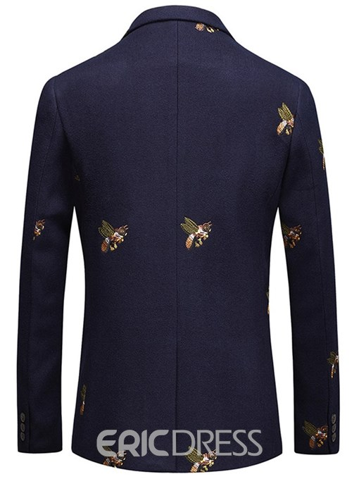 Ericdress Animal Embroidery One Button Lapel Mens Casual Ball Blazer