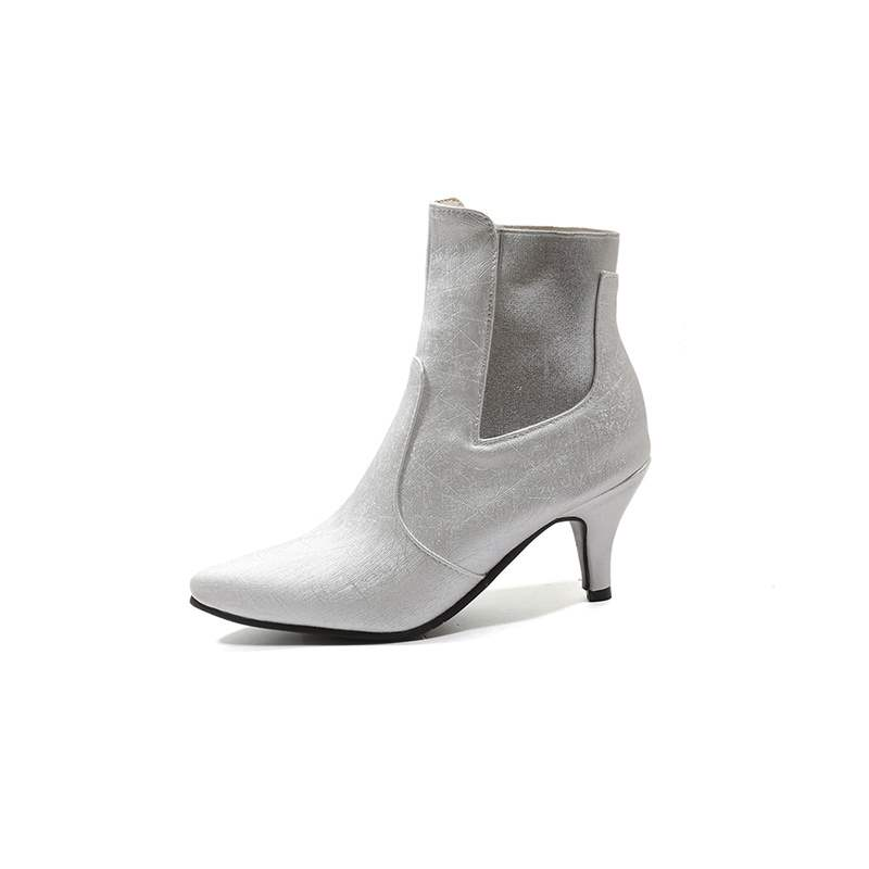 Ericdress Pointed Toe Elastic Kitten Heel Women's Ankle Boots
