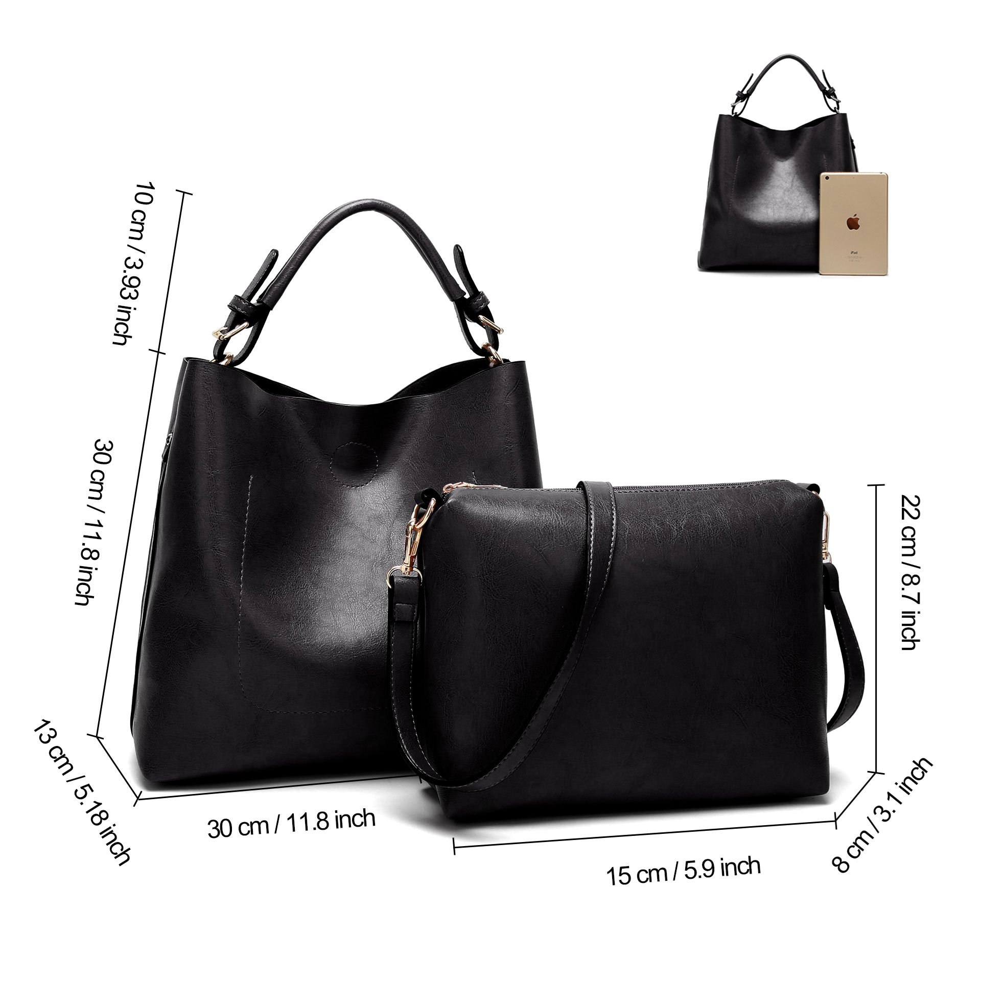 Ericdress PU Tote Two Bags Set
