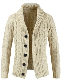 ericdress plaine simple boutonnage mens pulls cardigan