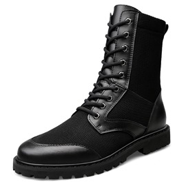 Ericdress Patchwork Lace-Up Front Men's Boots