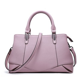 Ericdress Plain Leather Zipper Women Handbag