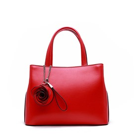 Ericdress Casual Leather Rose Women Handbag