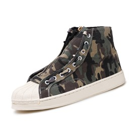 Ericdress Camouflage Canvas High-Cut Upper Men's Shoes