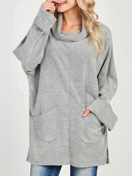 Ericdress Loose Heap Collar Plain Cool Hoodie