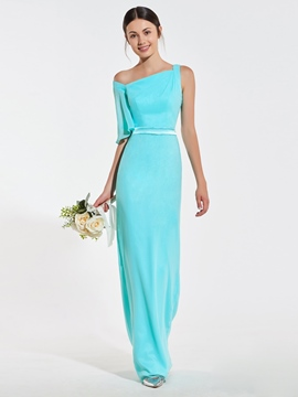 Ericdress Sheath One Shoulder Bridesmaid Dress