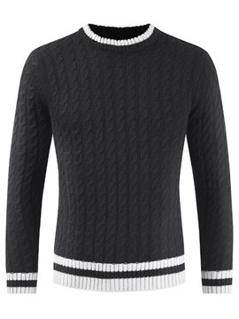 Ericdress Patchwork Plain Scoop Mens Casual Sweaters
