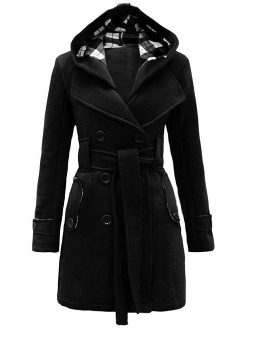 Ericdress Slim Belt Regular Mid-Length Fall Overcoat