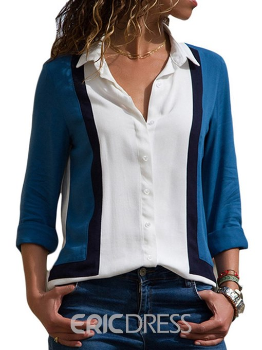 Ericdress Loose Single-Breasted Casual Lapel Blouse
