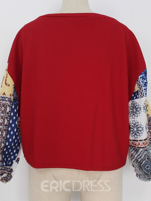 Ericdress Patchwork Fall Round Neck Sweater