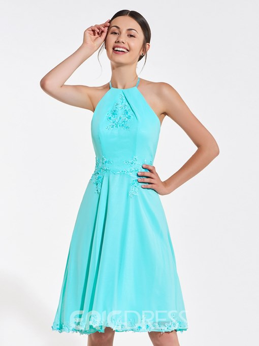 Ericdress Halter Backless Short A Line Bridesmaid Dress