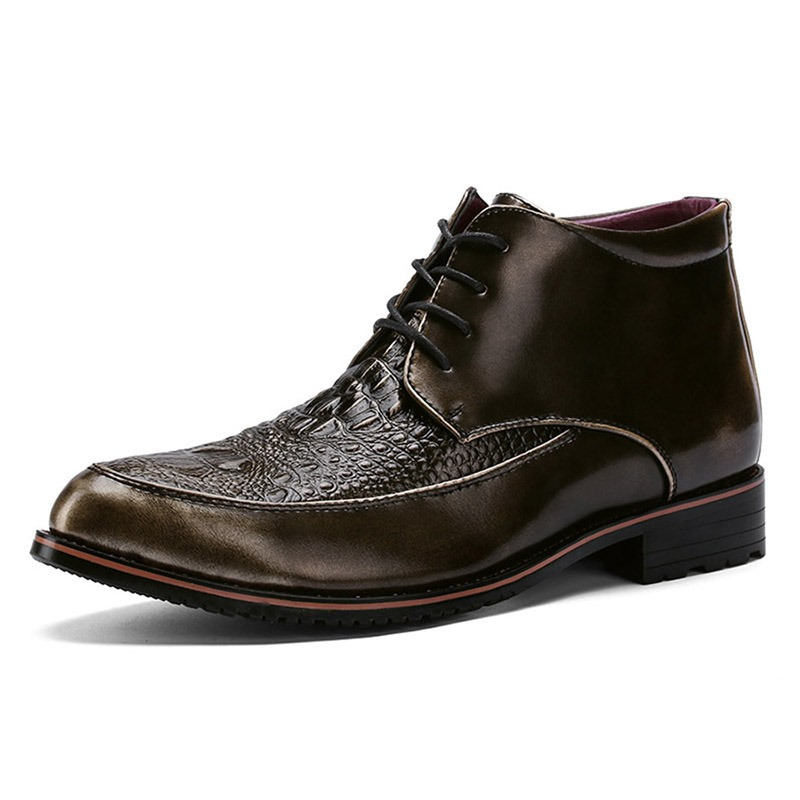 Ericdress Lace-Up Front Men's Boots