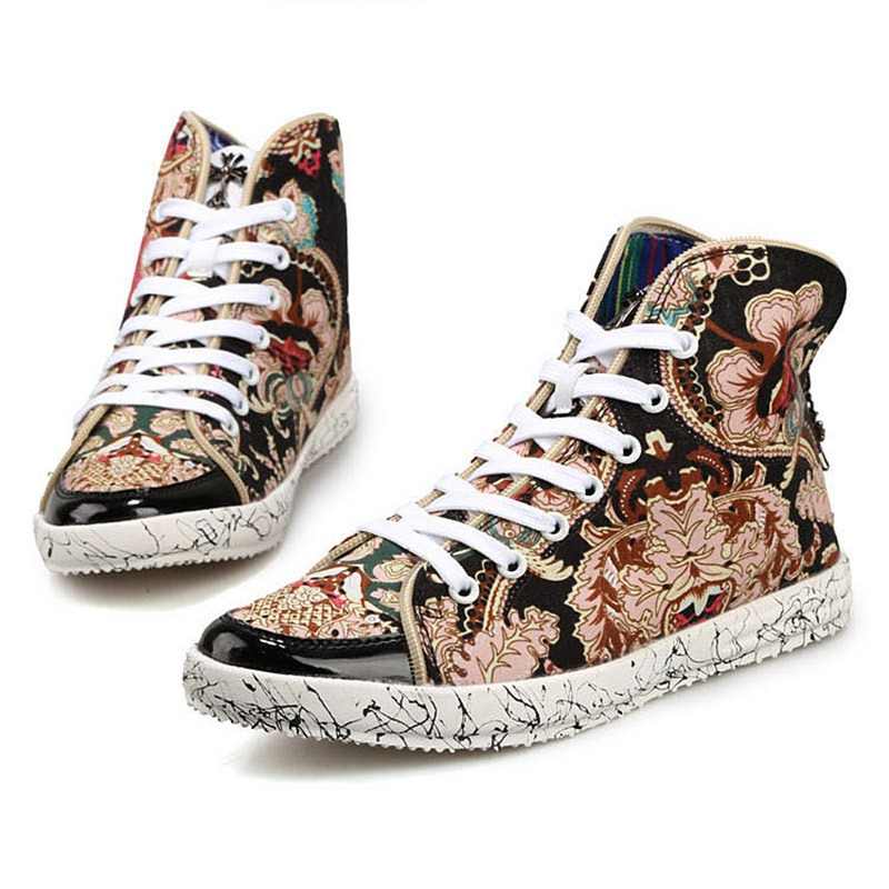 Ericdress Print High-Cut Upper Men's Casual Shoes