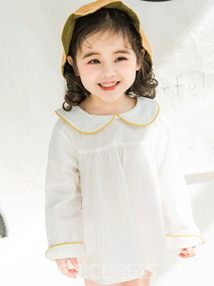 Ericdress Peter Pan Collar Pleated Bowknot Girls Dresses