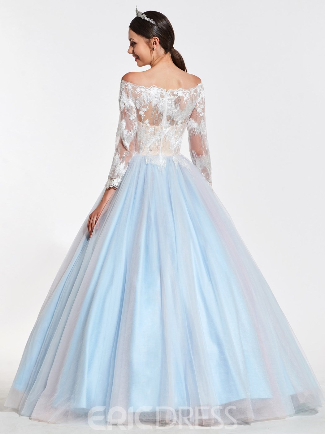 Ericdress Off The Shoulder Long Sleeve Ball Quincenera Gown