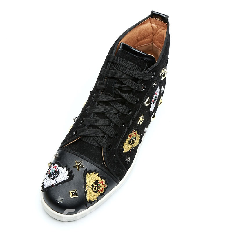 Ericdress Embroidery High-Cut Upper Men's Shoes