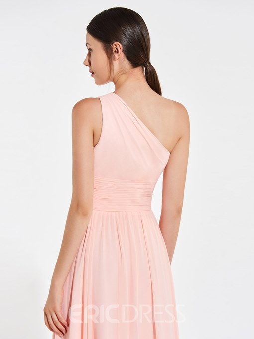 Ericdress A Line One Shoulder Ruched Bridesmaid Dress