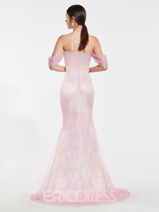 Ericdress Off-The-Shoulder Sequins Mermaid Bridesmaid Dress