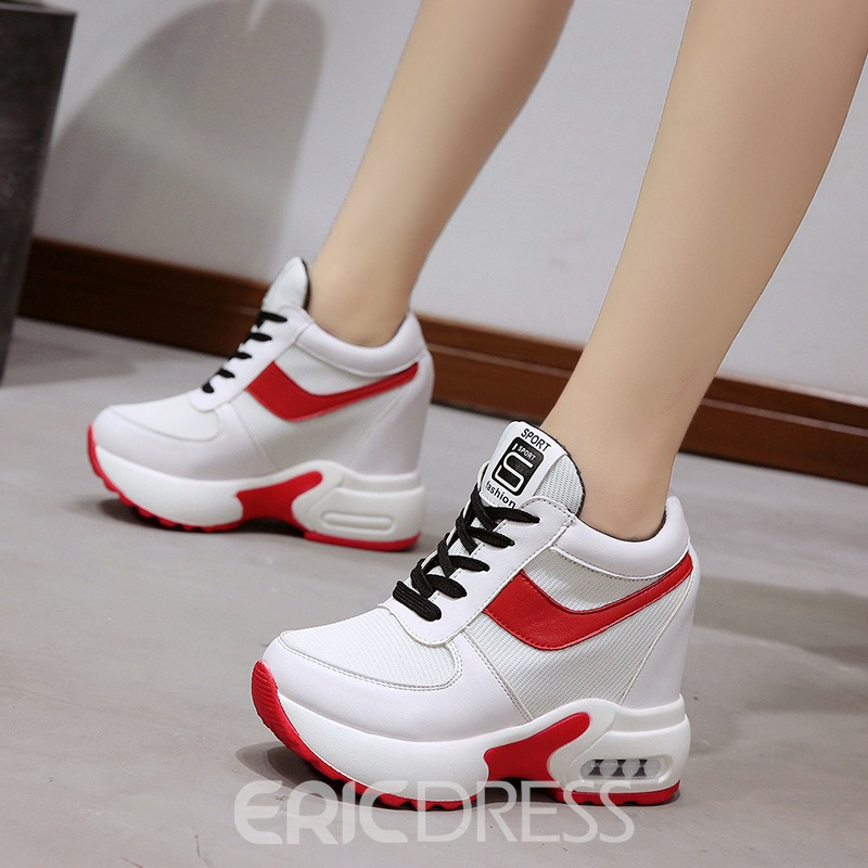 Ericdress Color Block Hidden Elevator Heel Women's Sneakers